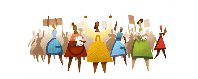 60th Anniversary of Women's March - Google Doodle