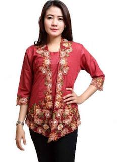 model baju batik wanita terbaru atasan