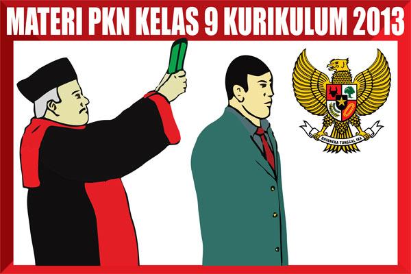 Materi Pelajaran PKn Kelas 9 Kurikulum 2013 Lengkap