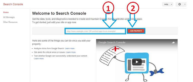 submit blog di google webmaster