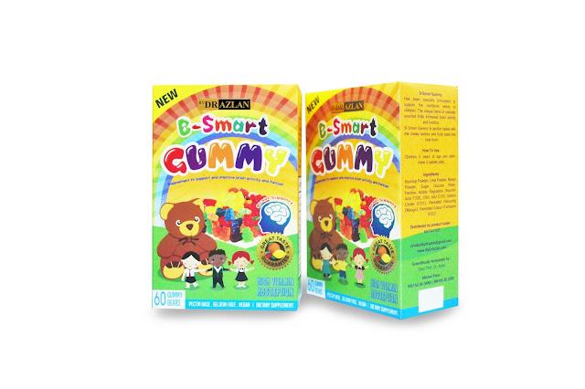 B-Smart Gummy ByDrAzlan, Vitamin Minda, Vitamin untuk kanak-kanak