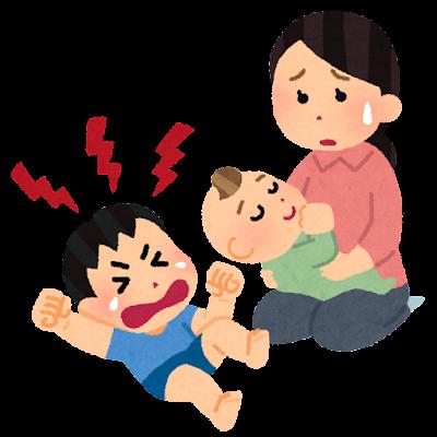 赤ちゃん返りのイラスト