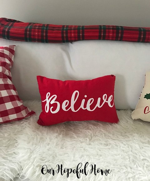 Believe pillowTarget placemat