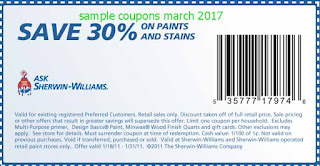 Sherwin Williams coupons for march 2017