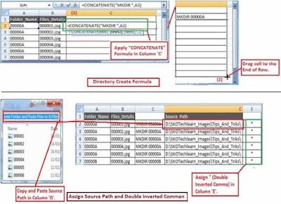 batch script to created folders