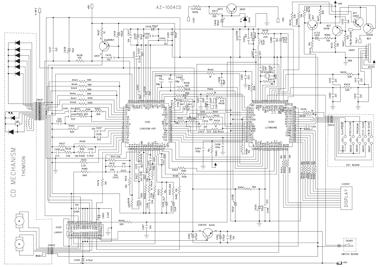 Master Electronics Repair Philips Az 78 Circuit