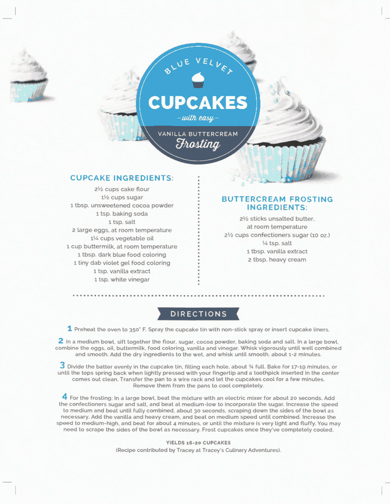 Blue Velvet Cupcakes -- Recipe + Baking Kit Giveaway from Dawn Ultra -- Simplify Your Summer!