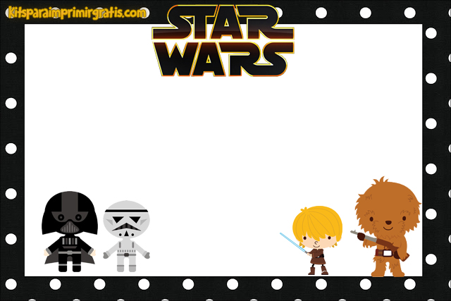 Para hacer Invitaciones, Tarjetas, Marcos de Fotos o Etiquetas, para Imprimir Gratis de Star Wars Bebés.