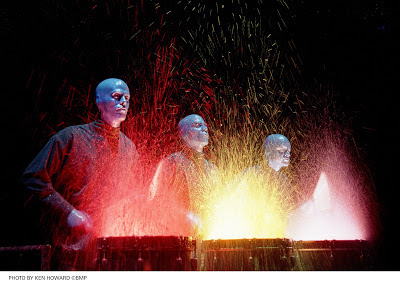 Blue Man Group Paint Drumming Photo by Ken Howard