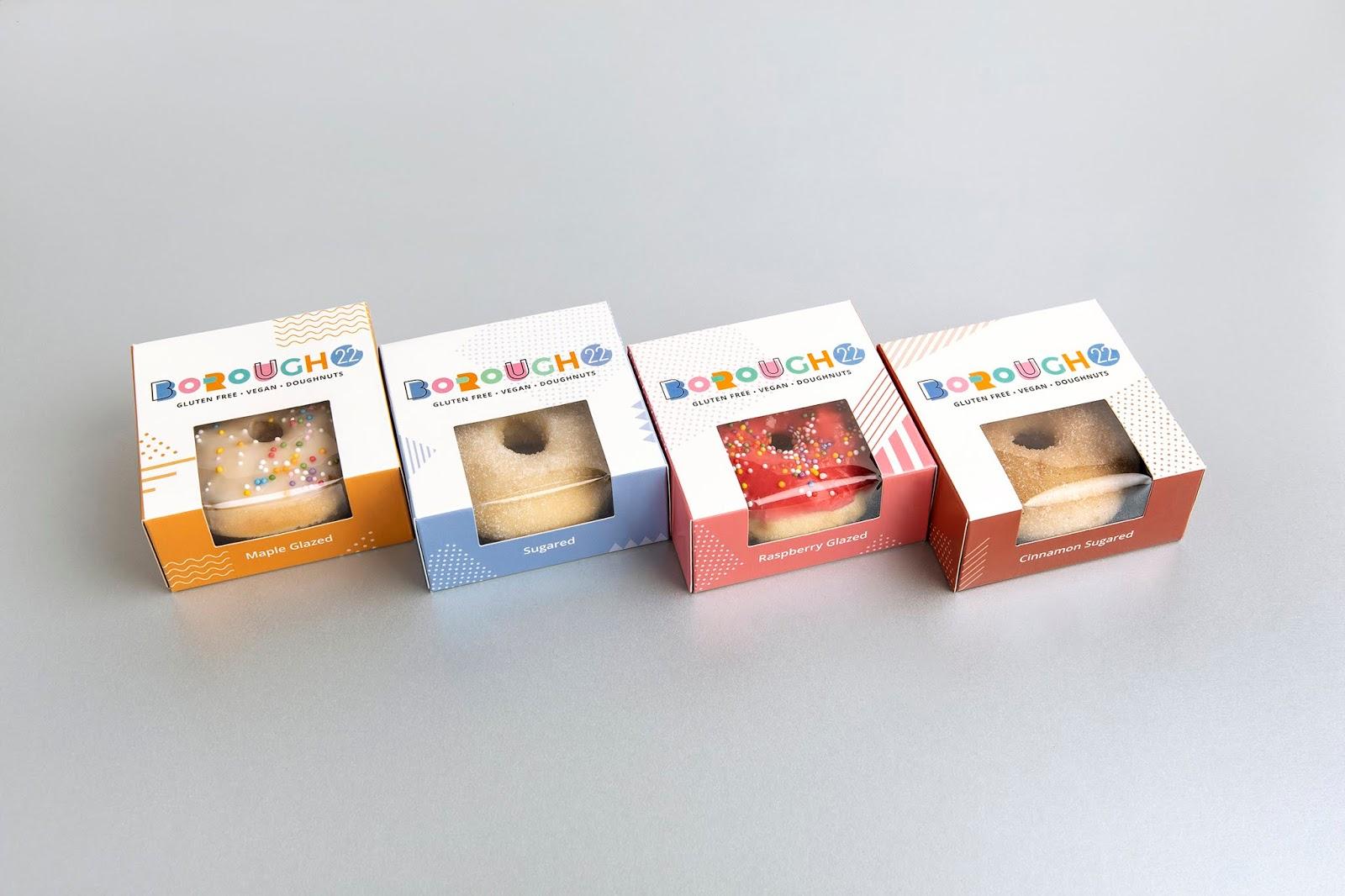 die-cut Donut boxes