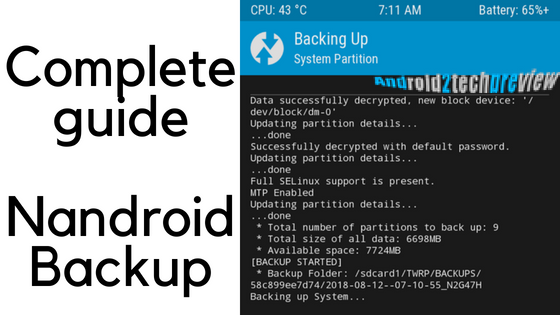 take Nandroid Backup of your Android