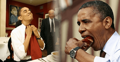 barack obama eats athens