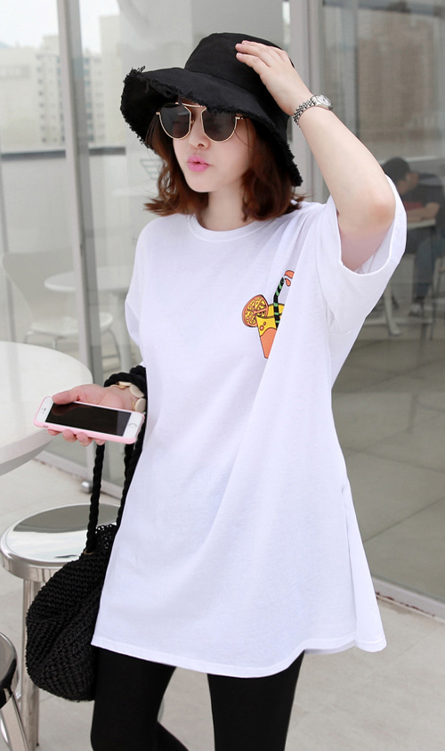 Loose Fit Juice Print T-Shirt