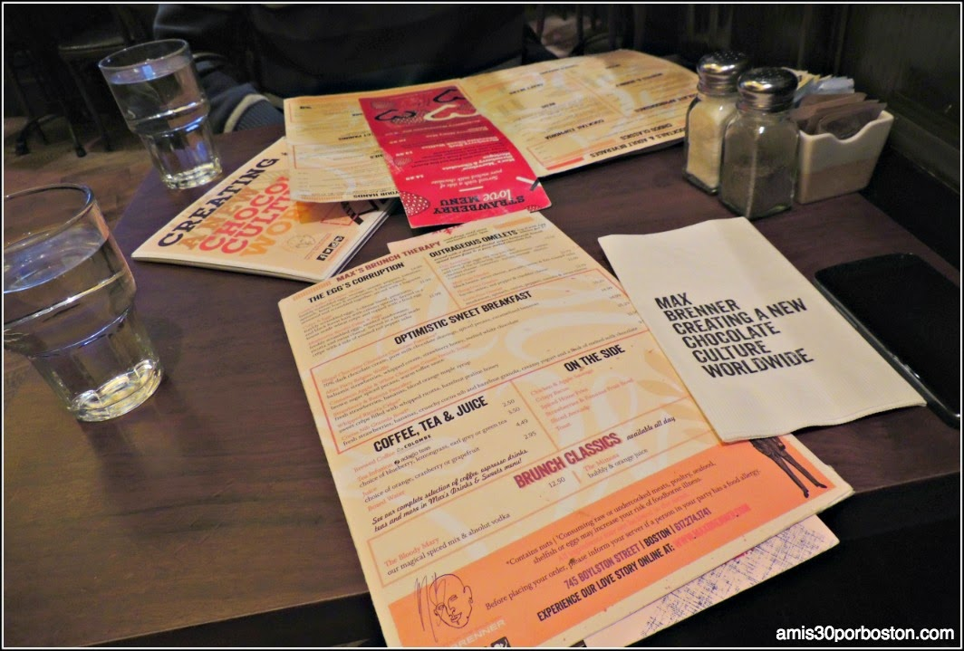 Hot Chocolate: Max Brenner Boston Menu