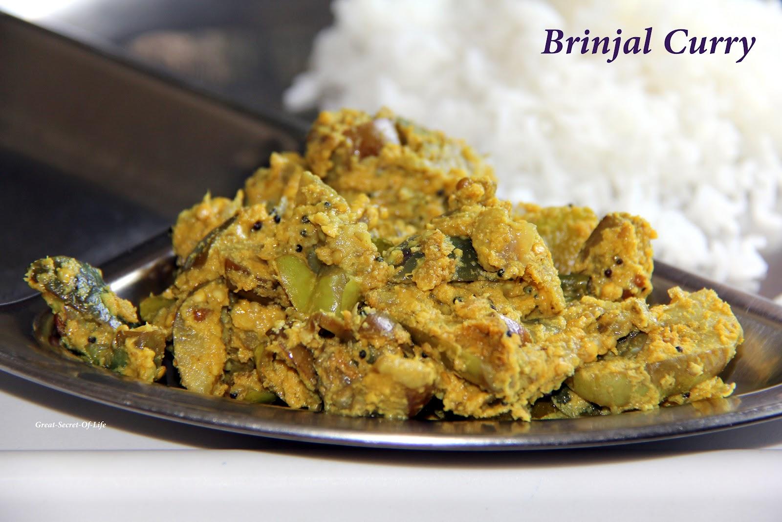 Brinjal / Eggplant Curry| Great-secret-of-life  Brinjal / Eggpl...