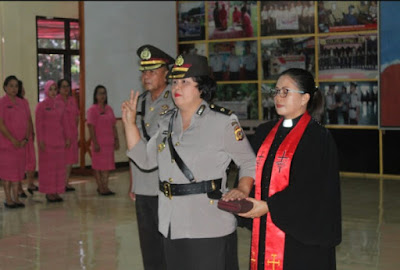 Komisaris Juli Bandangan Resmi Jabat Kabag Ren Polres Minsel Gantikan Kompol Rugian