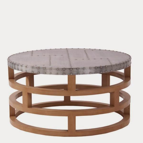 mesa redonda de centro metalica, mueble industrial
