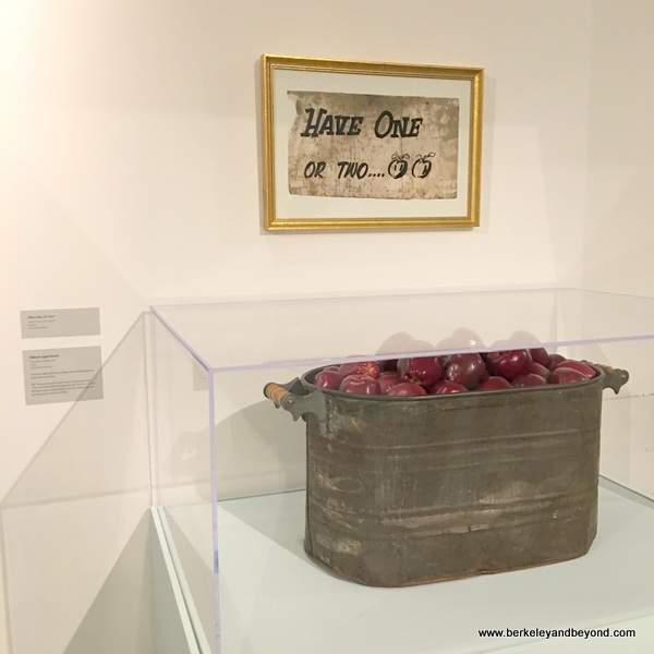 Bill Graham's barrel of apples at Contemporary Jewish Museum in San Francisco