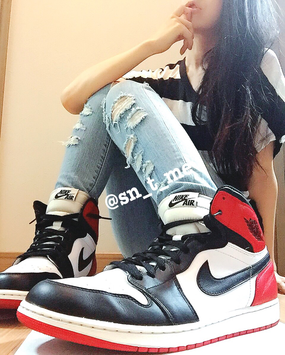 NIKE AIR JORDAN 1 RETRO HIGH OG 'BLACK TOE'(ナイキ エアジョーダン1 つま黒)555088-184