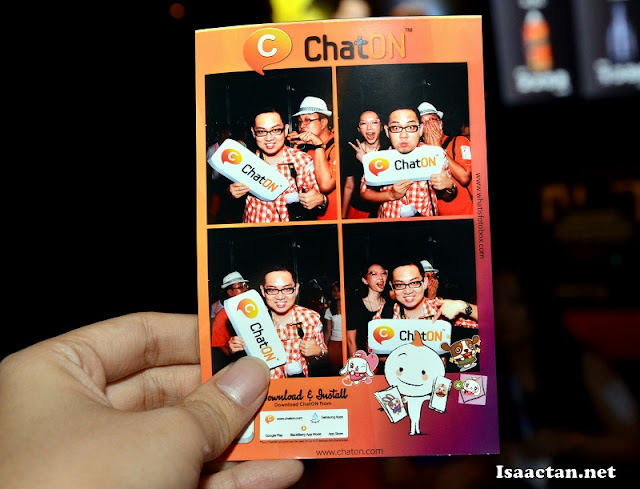 Instant photo from the photobooth at ChatON's Official Launch