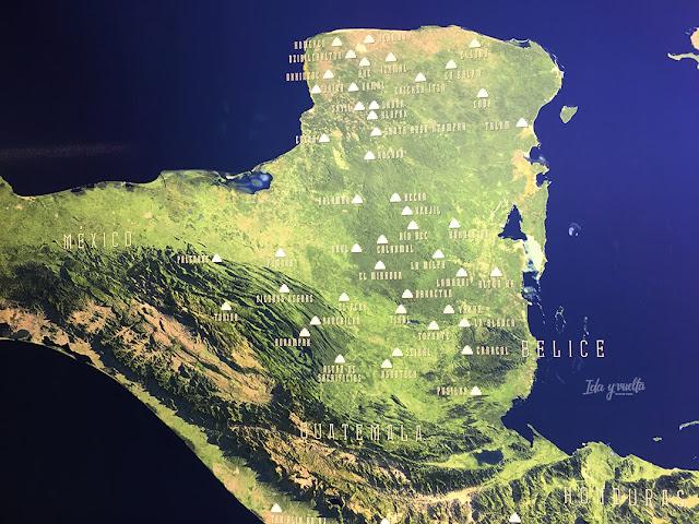 Mapa de localización de los mayas en Yucatán