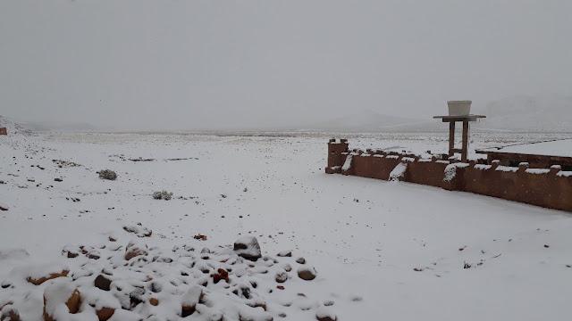 Es hat kräftig geschneit auf 4100m