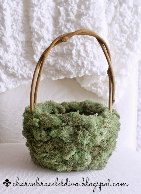 mossy twig basket