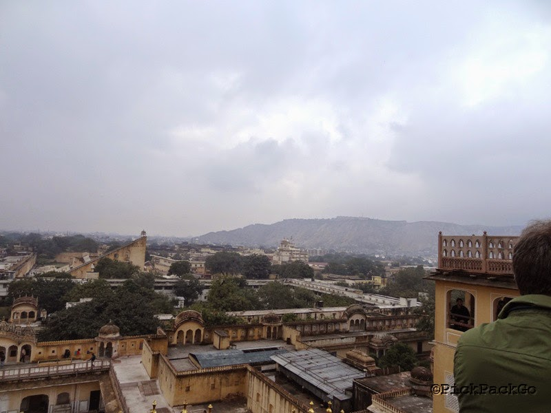 View of Jaipur from Hawa Mahal - Jaipur Pink City - Rajasthan