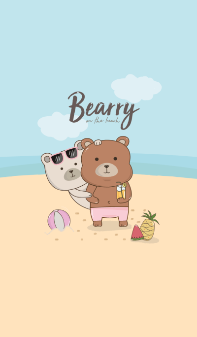 Bearry on the beach