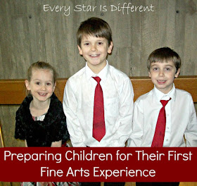 Preparing Childrne for Their First Fine Arts Experience