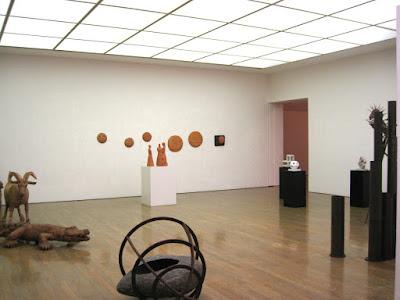 奈義美術館での展示風景