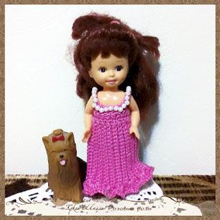 Платье для куклы Шелли Розовые розы