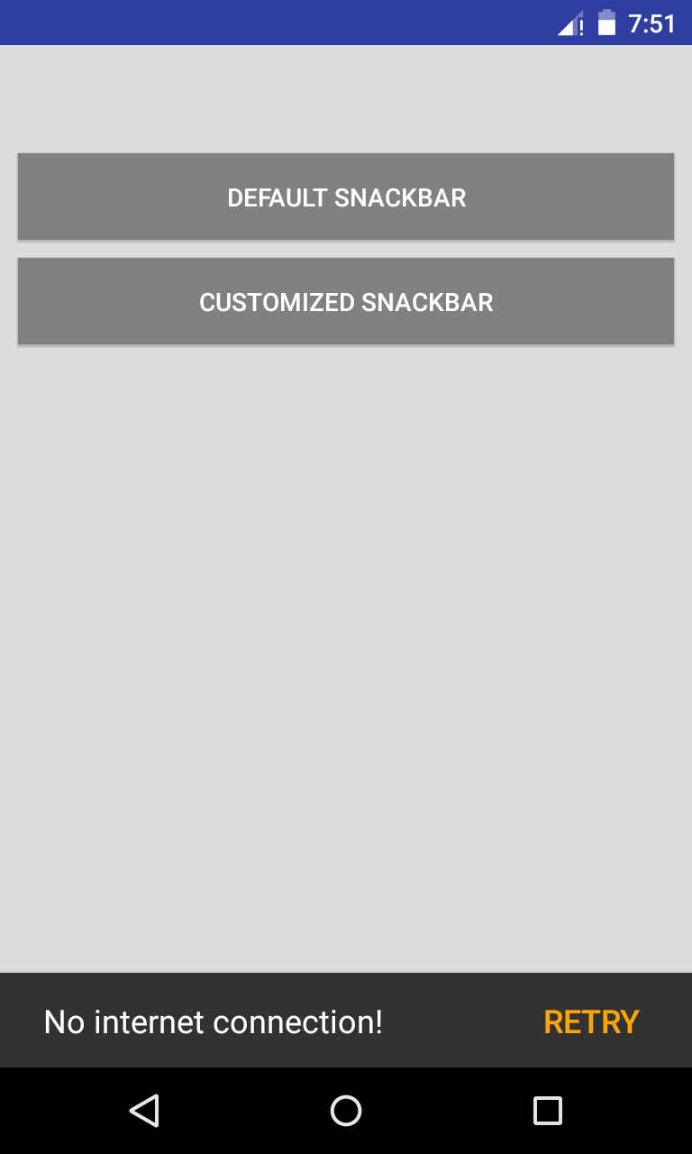 Xamarin android material design Snackbar customization