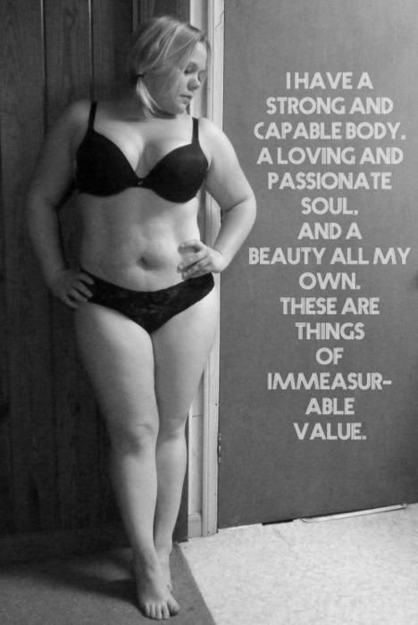 I am perfect in my own skin, just as I am.