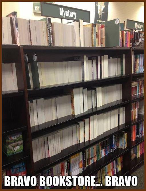 mystery bookshelves