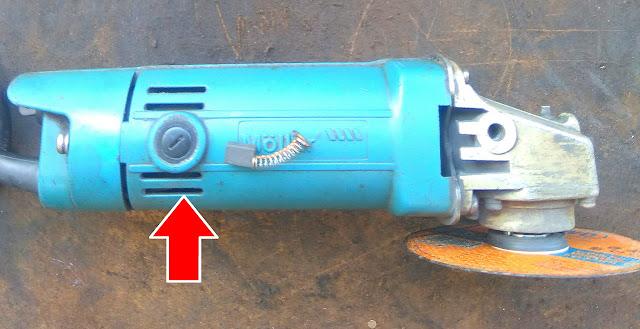 cara mengganti carbon brush mesin gerinda