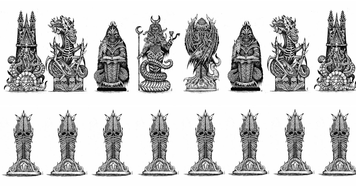 The Cult Of Me Cthulhu Chess Set Concept Art Winners