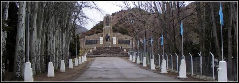 RETORNO A LA PATRIA del Gral SAN MARTÍN - Cajón del Manzano - Tunuyán - MENDOZA