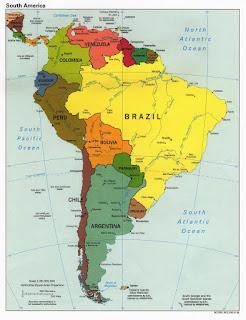 map benua amerika selatan