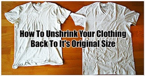 how to un shrink your clothes handy diy. Black Bedroom Furniture Sets. Home Design Ideas