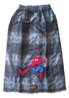 Sarung Instan Hitam Abu Spiderman Baru