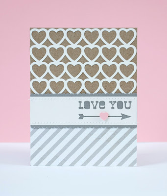 Silhouette Free Shape - Valentines Cut Out Heart Card 1