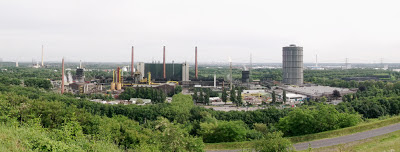 Image of the ArcelorMittal Coking plant Bottrop in a densely wooded area