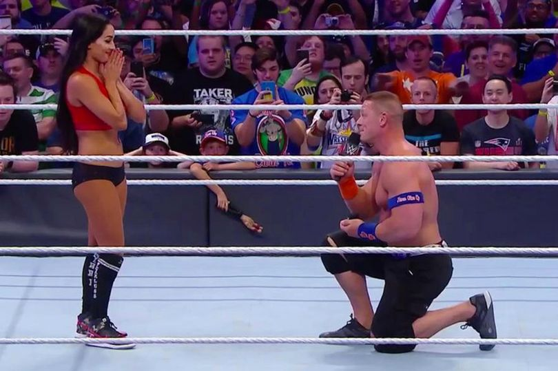 Wrestling legend John Cena proposed to Nikki Bella (1)