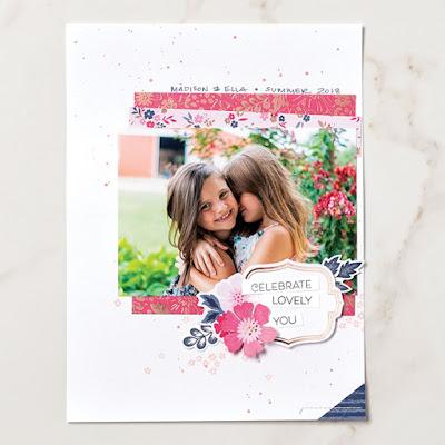Layout Stampin Up Produkt-Medlay Alles Wunderbare