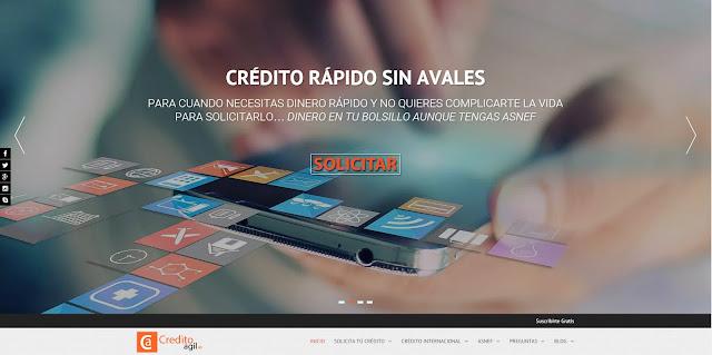 La nueva financiera online Creditoagil.es ofrece un servicio de crédito rápido online