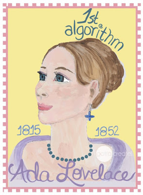 Ada Lovelace,.first computer programmer. | Art by Christina Mann Designs