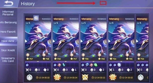 Cara Menyembunyikan History di Mobile Legends