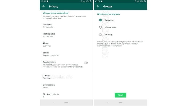 Whats app group invitation control features spoted - TECH