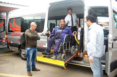 Saúde da Ilha Comprida com van de última geração para  o transporte de usuários com necessidades especiais